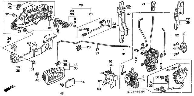 Genuine Honda 72171-S04-004 Handle Rod