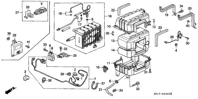 Genuine Honda 32152-SD4-000 Wire Harness Separator