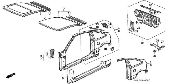 Right Honda Genuine 81131-S02-A12ZA Seat Cushion Trim Cover Front
