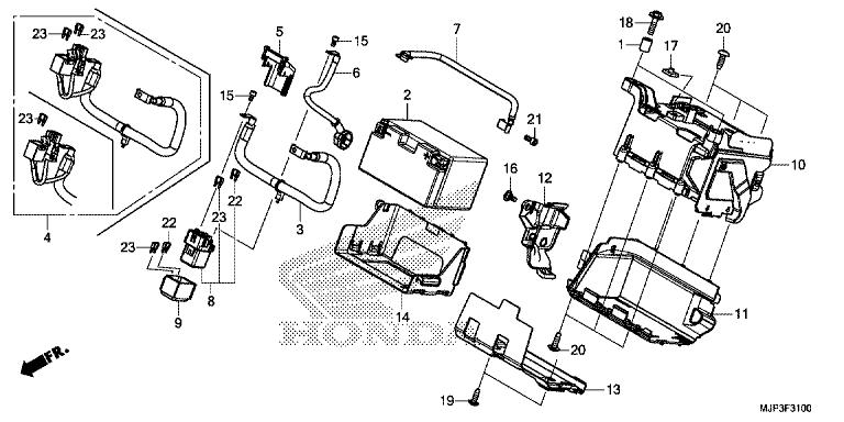 Honda Bike Drawing