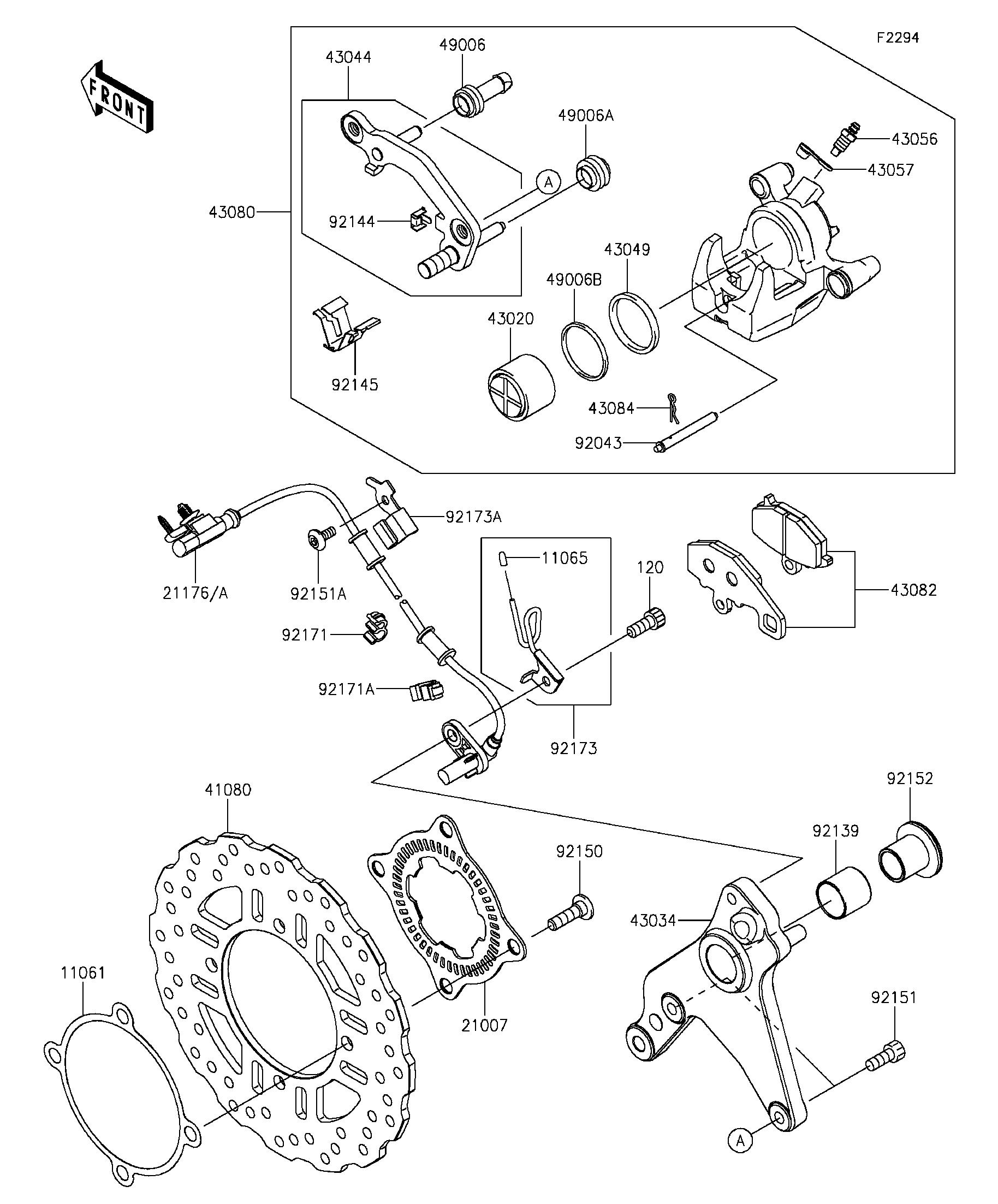 Genuine Kawasaki Parts For Road Bikes Cradley Bicycle Brake Diagram