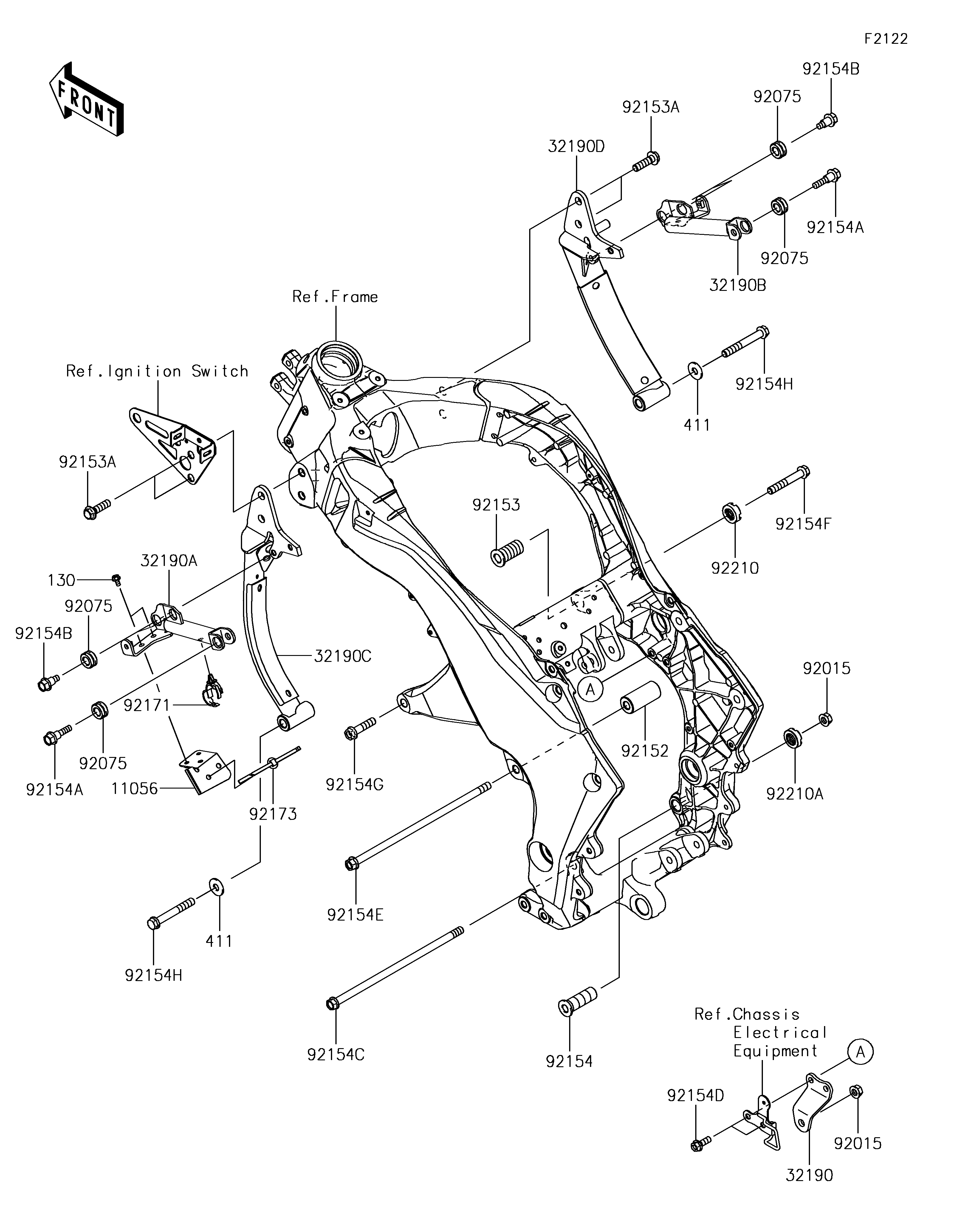 block: f2122 - engine mount