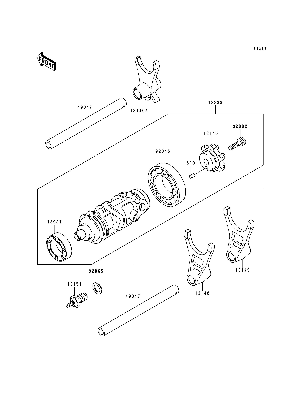 Gear Change Drum/Shift Fork(s)