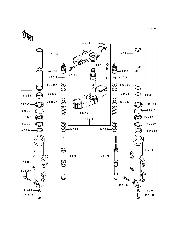 Front Fork(JKAZX900CCA032426-)