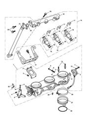 triumph motorcycle  SPEED TRIPLE 141872 > 210444 triumph parts section ThrottlesInjectors and Fuel Rail 207555 gt