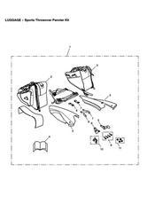 triumph motorcycle  SPEED TRIPLE 141872 > 210444 triumph parts section Sports Throwover Pannier Kit