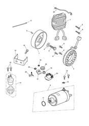 triumph motorcycle  Sprint GT triumph parts section Starter amp Alternator