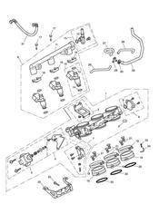 triumph motorcycle  Sprint GT triumph parts section Throttles Injectors and Fuel Rail