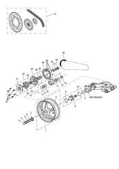triumph motorcycle  Sprint GT triumph parts section Rear Wheel amp Final Drive
