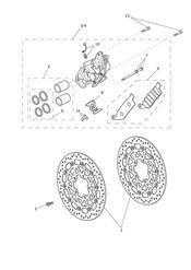 triumph motorcycle  Tiger 800 XC upto VIN: 674841 triumph parts section Front Brake Caliper amp Discs
