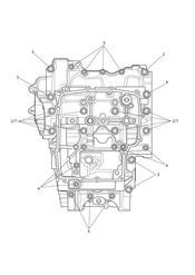 triumph motorcycle  Tiger 800 XC upto VIN: 674841 triumph parts section Crankcase Bolts