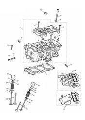 triumph motorcycle  Tiger 800 XC upto VIN: 674841 triumph parts section Cylinder Head amp Valves
