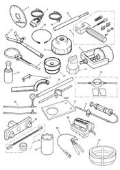 triumph motorcycle  Tiger 800 XC upto VIN: 674841 triumph parts section Service Tools