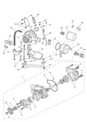 triumph motorcycle  Tiger 800 upto VIN: 674841 triumph parts section Oil Pump Drive