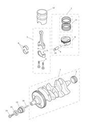 triumph motorcycle  Tiger 800 upto VIN: 674841 triumph parts section Crankshaft Connecting Rods Pistons amp Liners