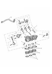 triumph motorcycle  Tiger 800 upto VIN: 674841 triumph parts section Throttles Injectors and Fuel Rail