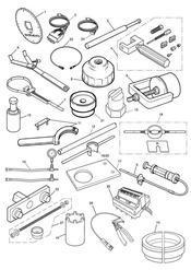 triumph motorcycle  Tiger 800 upto VIN: 674841 triumph parts section Service Tools