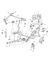 triumph motorcycle  Thunderbird Storm triumph parts section Rear Brake Master Cylinder Reservoir amp Pedal