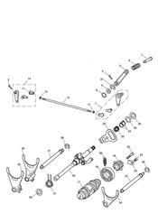 triumph motorcycle  Thunderbird Storm triumph parts section Gear Selectors amp Pedal