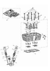 triumph motorcycle  Thunderbird Storm triumph parts section Cylinder Head amp Valves