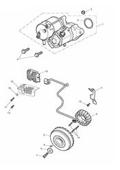 triumph motorcycle  Thunderbird Storm triumph parts section Starter amp Alternator