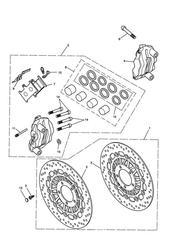 triumph motorcycle  Tiger 1050 287504 - 570058 triumph parts section Front Brake Caliper amp Discs