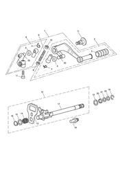 triumph motorcycle  Tiger 1050 287504 - 570058 triumph parts section Gear Change Mechanism  Eng No 340170 gt