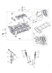 triumph motorcycle  Tiger 1050 287504 - 570058 triumph parts section Cylinder Head amp Valves