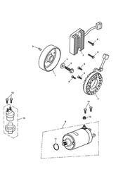triumph motorcycle  Tiger 1050 287504 - 570058 triumph parts section Starter amp Alternator
