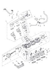triumph motorcycle  Tiger 1050 287504 - 570058 triumph parts section Throttles Injectors and Fuel Rail