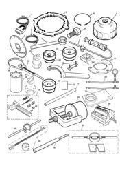 triumph motorcycle  Tiger 1050 287504 - 570058 triumph parts section Service Tools