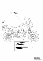 triumph motorcycle  TIGER 885i 71699 > 124105 triumph parts section Bodywork  Decals
