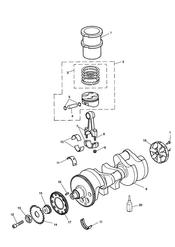 triumph motorcycle  TIGER 885i 71699 > 124105 triumph parts section CrankshaftConn RodPistons and Liners
