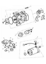 triumph motorcycle  TIGER 885i 71699 > 124105 triumph parts section AlternatorStarter