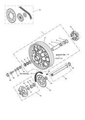 triumph motorcycle  TIGER 885i 71699 > 124105 triumph parts section Rear WheelFinal Drive