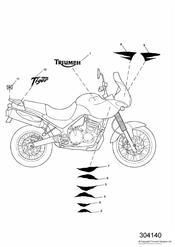 triumph motorcycle  TIGER 955i 124106 > 198874 triumph parts section Bodywork  Decals
