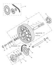 triumph motorcycle  TIGER 955i 124106 > 198874 triumph parts section Rear WheelFinal Drive