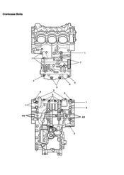triumph motorcycle  Tiger 955i 198875 - 287503 triumph parts section Crankcase Bolts