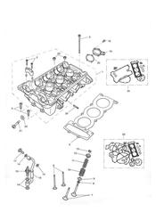 triumph motorcycle  Tiger 955i 198875 - 287503 triumph parts section Cylinder Head amp Valves