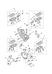 triumph motorcycle  Tiger 955i 198875 - 287503 triumph parts section Footrests amp Control Plates