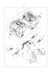 triumph motorcycle  Tiger 800 XC upto VIN: 674841 triumph parts section 2 Box Pannier Kit US CA amp SG