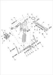 triumph motorcycle  Trophy 1215 triumph parts section Rear Suspension Unit amp Linkage