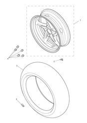 triumph motorcycle  Trophy 1215 triumph parts section Rear Wheel