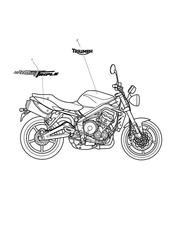 triumph motorcycle  Street Triple to VIN 560476 triumph parts section Bodywork  Decals gt 480781