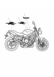 triumph motorcycle  Street Triple R to VIN 560476 triumph parts section Bodywork  Decals gt 482181