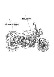 triumph motorcycle  Street Triple R to VIN 560476 triumph parts section Bodywork  Decals 482182 gt