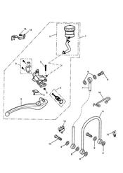 triumph motorcycle  Street Triple R to VIN 560476 triumph parts section Front Brake Master Cylinder amp Hoses