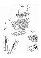 triumph motorcycle  Street Triple R to VIN 560476 triumph parts section Cylinder Head amp Valves
