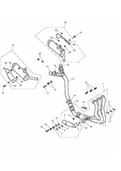 triumph motorcycle  Street Triple R to VIN 560476 triumph parts section Exhaust System