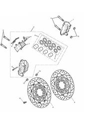 triumph motorcycle  Daytona 675 from VIN 564948 triumph parts section Front Brake Caliper amp Discs